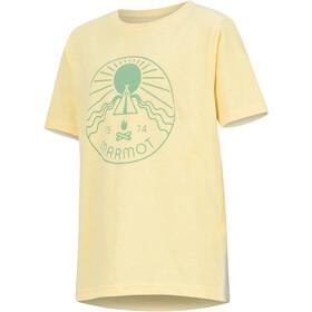 Marmot Nico Kurzarm T-Shirt Mädchen banana cream heather